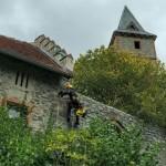 Blitzschutzmontage Burg Frankenstein